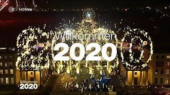 Jahreswechsel 2019-2020 - Feuerwerk - Silvester 2019 am Brandenburger Tor (Willkommen 2020)