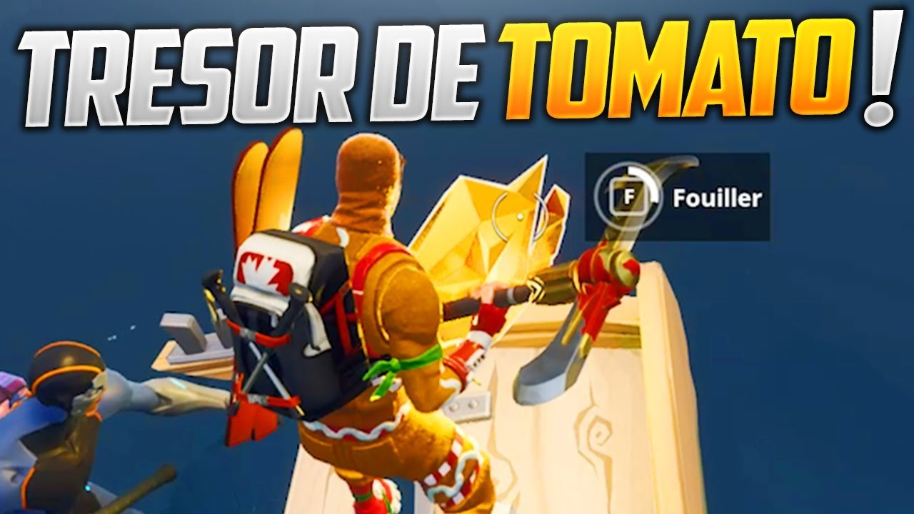fortnite carte au tresor tomato SUIVRE LA CARTE AU TRÉSOR DE TOMATO TOWN SUR FORTNITE BATTLE