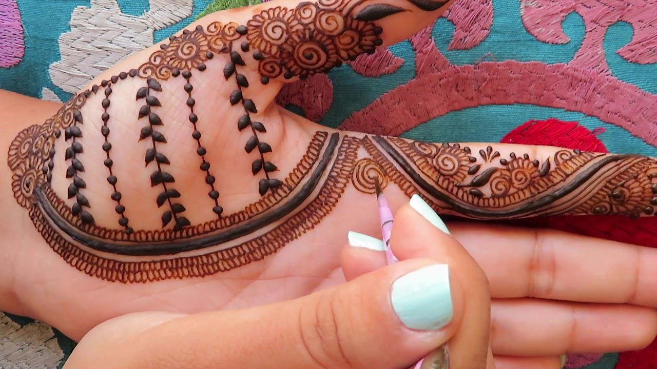 Simple Palm Henna Design