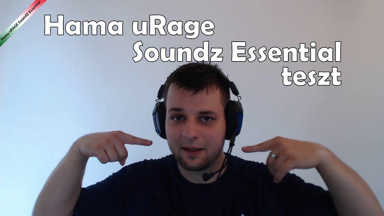 786c8c716b2 Hama uRAGE SoundZ Essential (vs Zalman ZM-HPS300) teszt [HUN] - YouTube