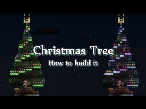 Terraria - Christmas Tree! How To Build One