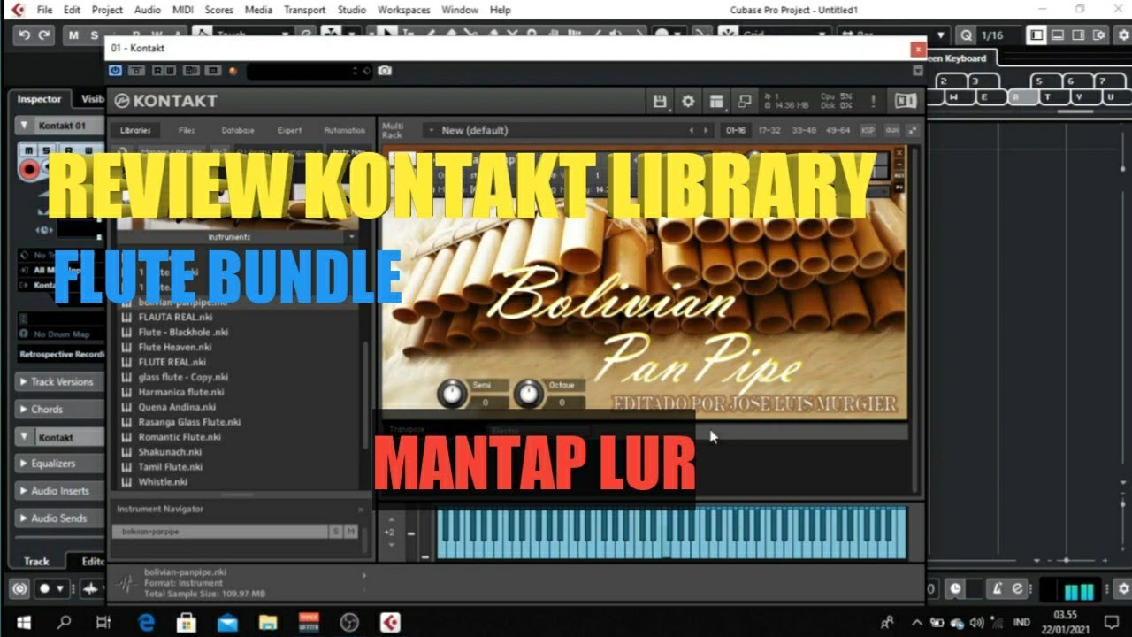 review flutes kontakt library