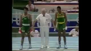 Pakistan legendary Boxer Syed Hussain Shah 1988-89 Olympic Quarter Final Fight Part 2/2