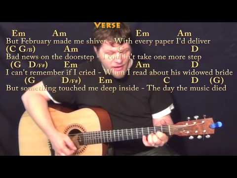 American Pie (Don McLean) Strum Guitar Cover Lesson with Chords/Lyrics