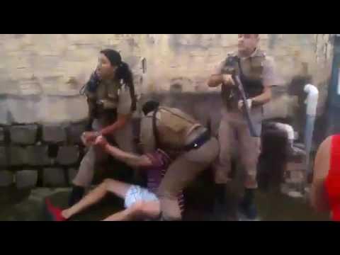 Vagabundos enfretam a polícia e levam tiro. PMSC