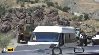 Yüksekova'da askeri konvoya bir saldırı daha!