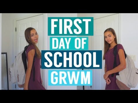 Get Ready With Me: First Day of School! Freshman Year 2017!