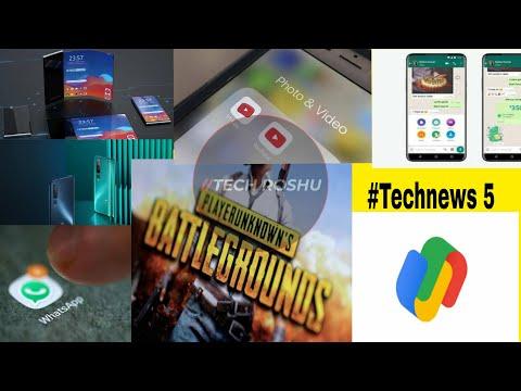 #Technews 5 whatsapp new feature, google pay logo, Whatsapp pay, airtel free premium subscription,