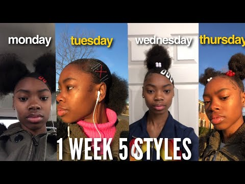 I WORE DIFFERENT NATURAL HAIRSTYLES TO SCHOOL FOR A WEEK