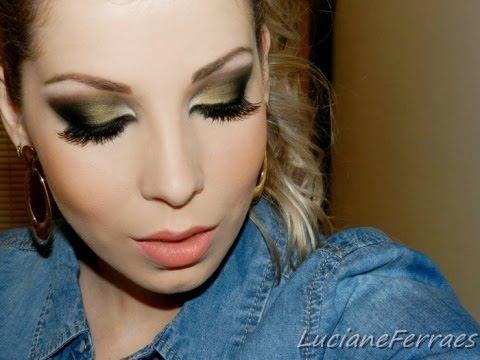 Maquiagem para madrinha vestido verde