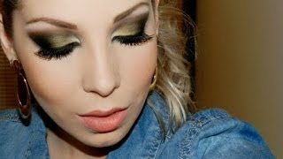 Maquiagem marcante usando sombra verde, com Lu Ferraes