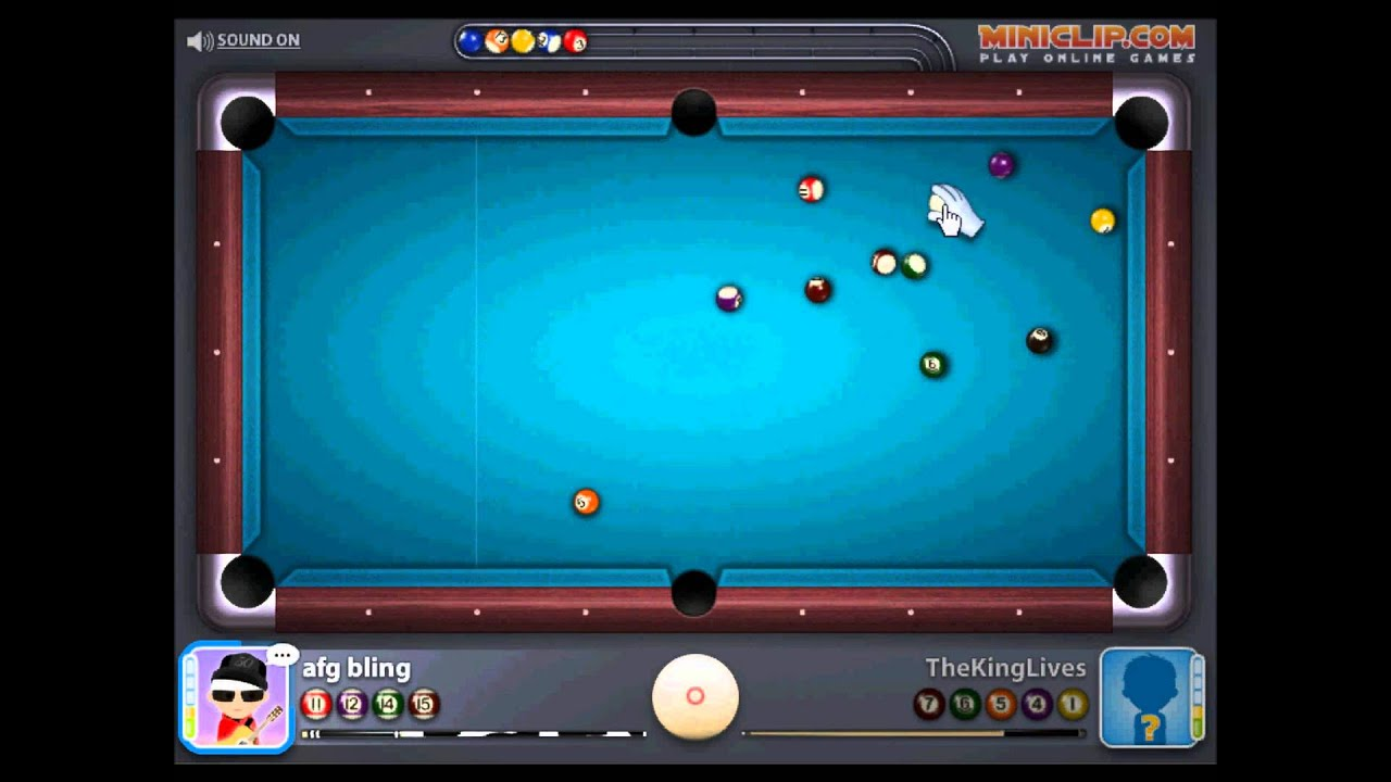 Miniclip 8 ball pool multiplayer gameplay PC - YouTube