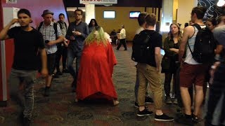 Getting kicked out of a movie theatre