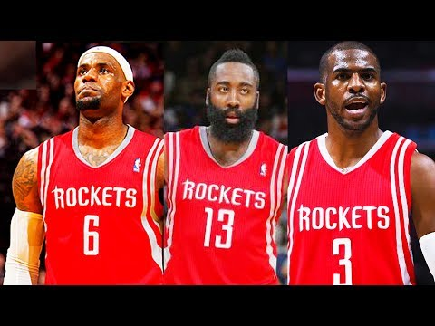 LeBron James Traded to Rockets! LeBron James Joins James Harden and Chris Paul on the Rockets