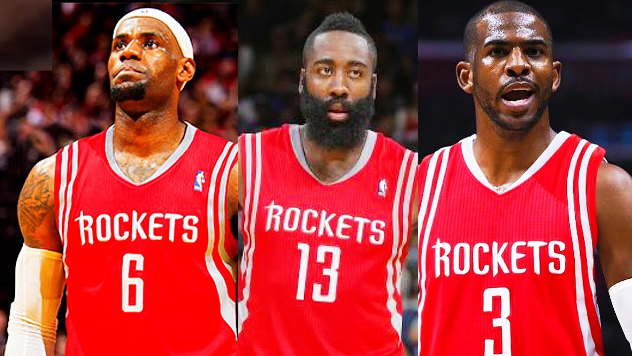the latest 701c5 23680 LeBron James Traded to Rockets! LeBron James Joins James Harden and Chris  Paul on the Rockets