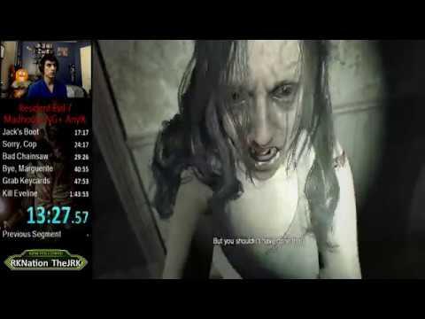 Resident Evil 7 Madhouse NG+ Any% Speedrun 1:40:04