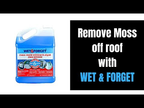 How To Remove Moss U0026 Mold From Your Roof Shingles With Wet U0026 Forget Roof  Shingle Demo Video   YouTube