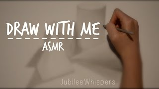 ASMR Relaxing drawing for sleep + close up whispering