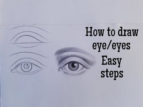 How To Draw An Eye/eyes Easy! Eye Drawing Tutorial For Beginners Easy Step By Step With Pencil