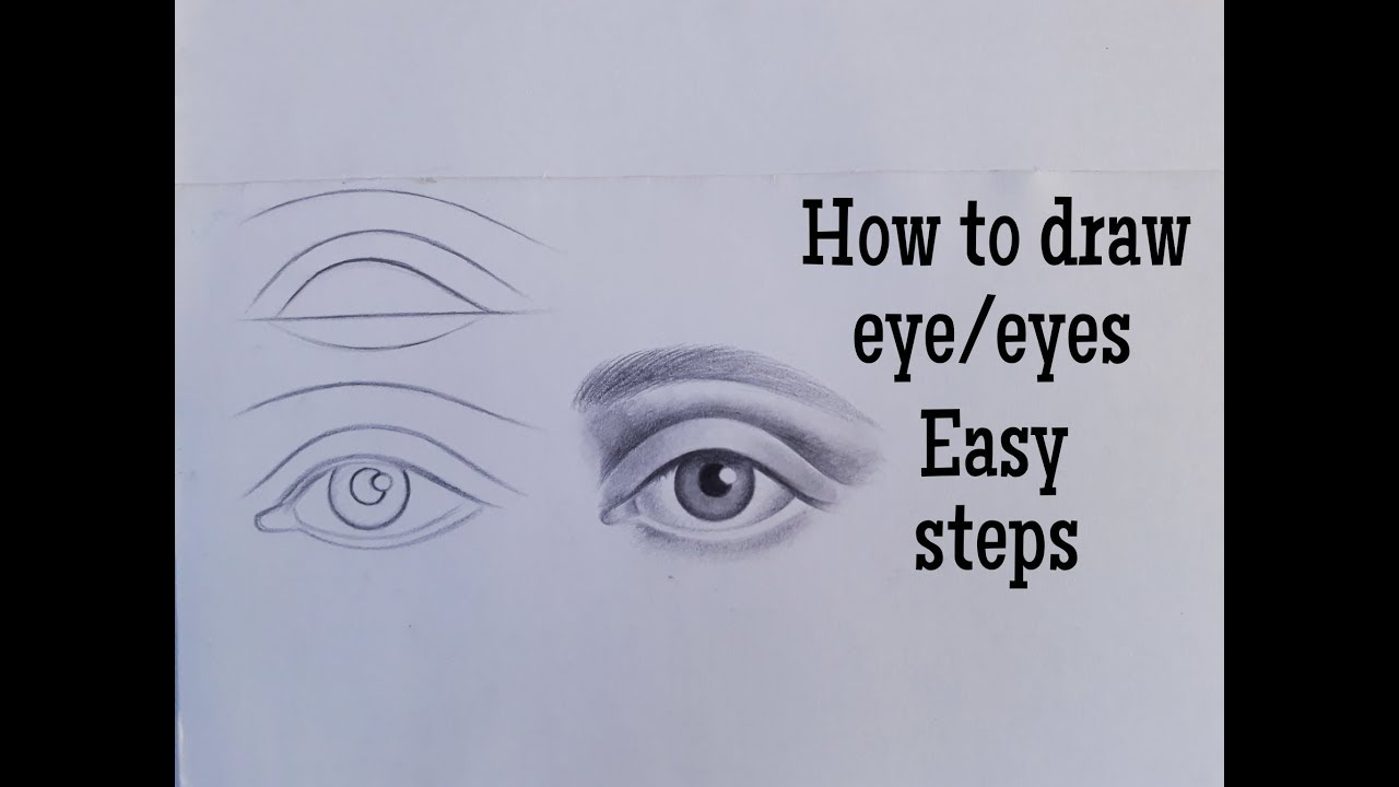 How to draw an eye/eyes easy! Eye drawing tutorial for ...
