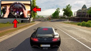 Forza Horizon 3 Driving Like A BOSS (Steering Wheel + Paddle Shifters) Mercedes AMG GTR Gameplay