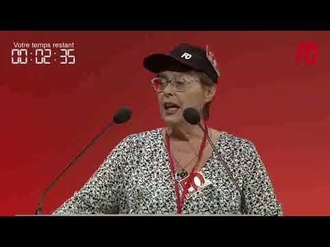24e Congrès de FO à Lille   25 04 2018   Christine AUBÉRY