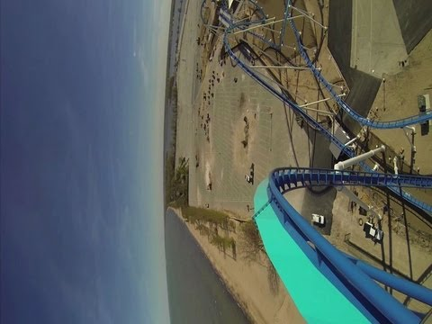 Cedar Point GateKeeper POV: Full Front View And Reverse On-Ride