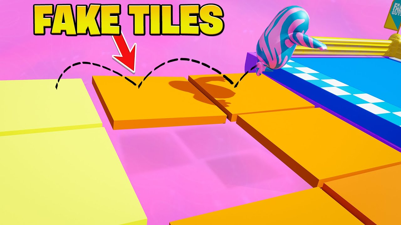 JUMP ON FAKE TILES IN TIP TOE + How to Win
