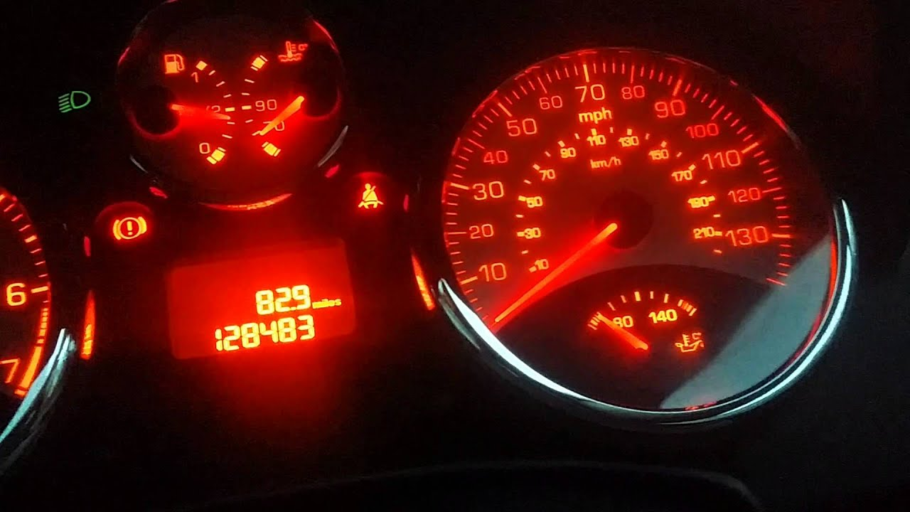 Peugeot 207 1.4 VVT 95 BHP Anti pollution faulty temp gauge fault camshaft solenoid MINI 1