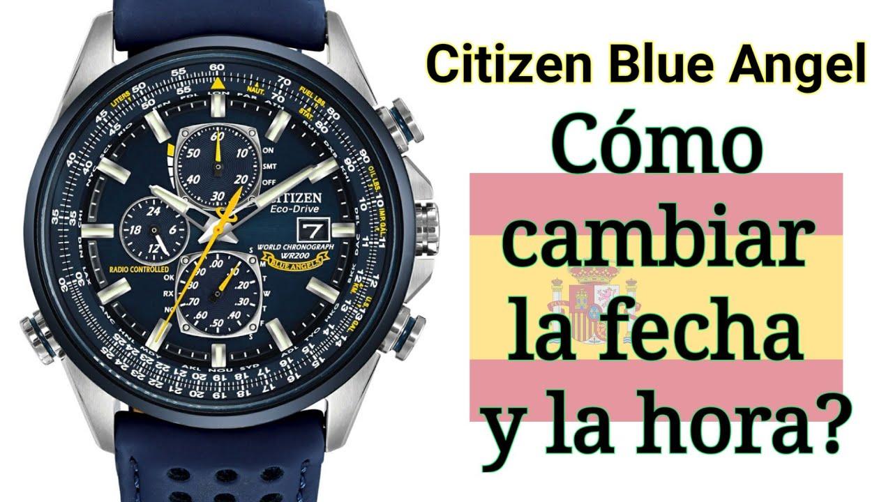 como poner la hora en un reloj citizen eco drive