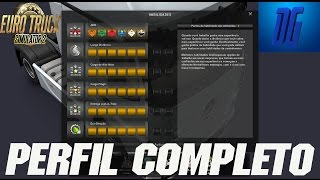 PERFIL Completo do Euro Truck Simulator 2 - SAVE GAME - V.1.20 Acima