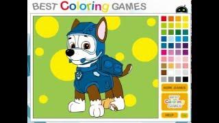 Мультик игра Щенячий патруль: Раскраска Гонщик (Paw Patrol Chase Coloring)