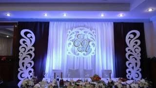 Светодиодная подсветка свадебной стенки 2 (Плавное смещение цветов)