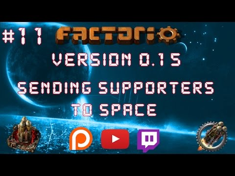 Factorio 0.15 Sending Supporters To Space EP 11: Military Science Packs! - Let's Play, Gameplay
