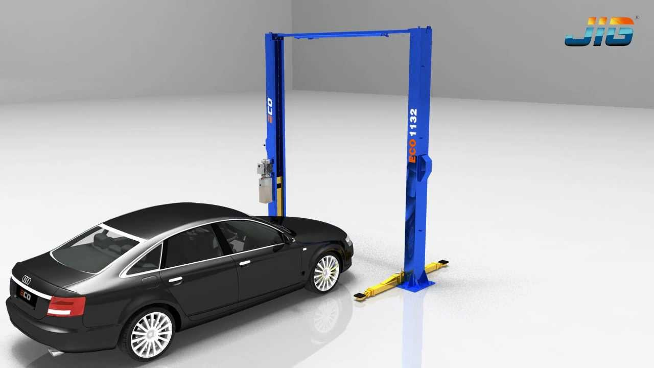 Eco1132 two post economic car service lift - YouTube