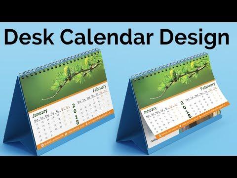 Calendar Design 2018 | How to Create a Desk Calendar in Photoshop Tutorial | #Maxpoint-Hridoy