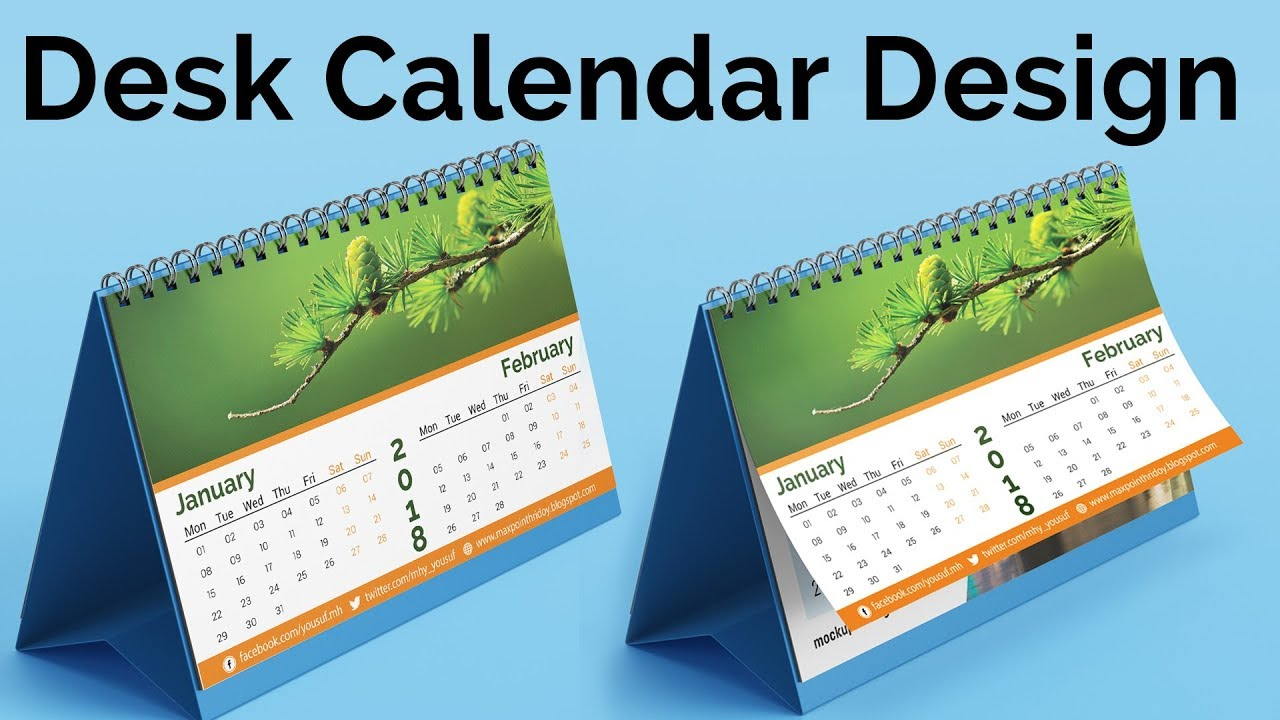 Calendar Design Tutorial : Calendar design how to create a desk in