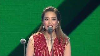 A-Lin - 2016QQ音樂巔峰盛典獲獎片段 - 最受歡迎港台女歌手 + 年度最佳影視金曲《忘記擁抱》