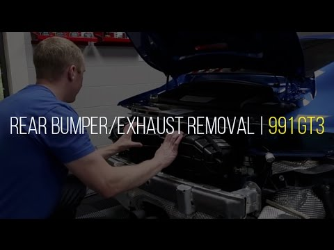 991 GT3 Bumper and Exhaust Removal