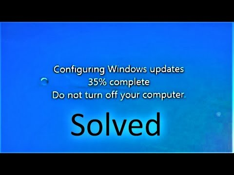 How To Fix Failure Configuring Windows Updates Stuck At 35%