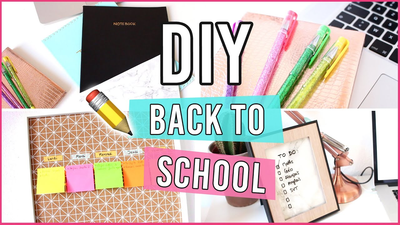 diy back to school customisez vos fournitures scolaires youtube. Black Bedroom Furniture Sets. Home Design Ideas