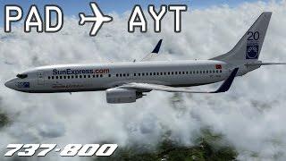 [P3D] Paderborn/Lippstadt to Antalya | SXS369 | SunExpress | PMDG 737-800 | IVAO