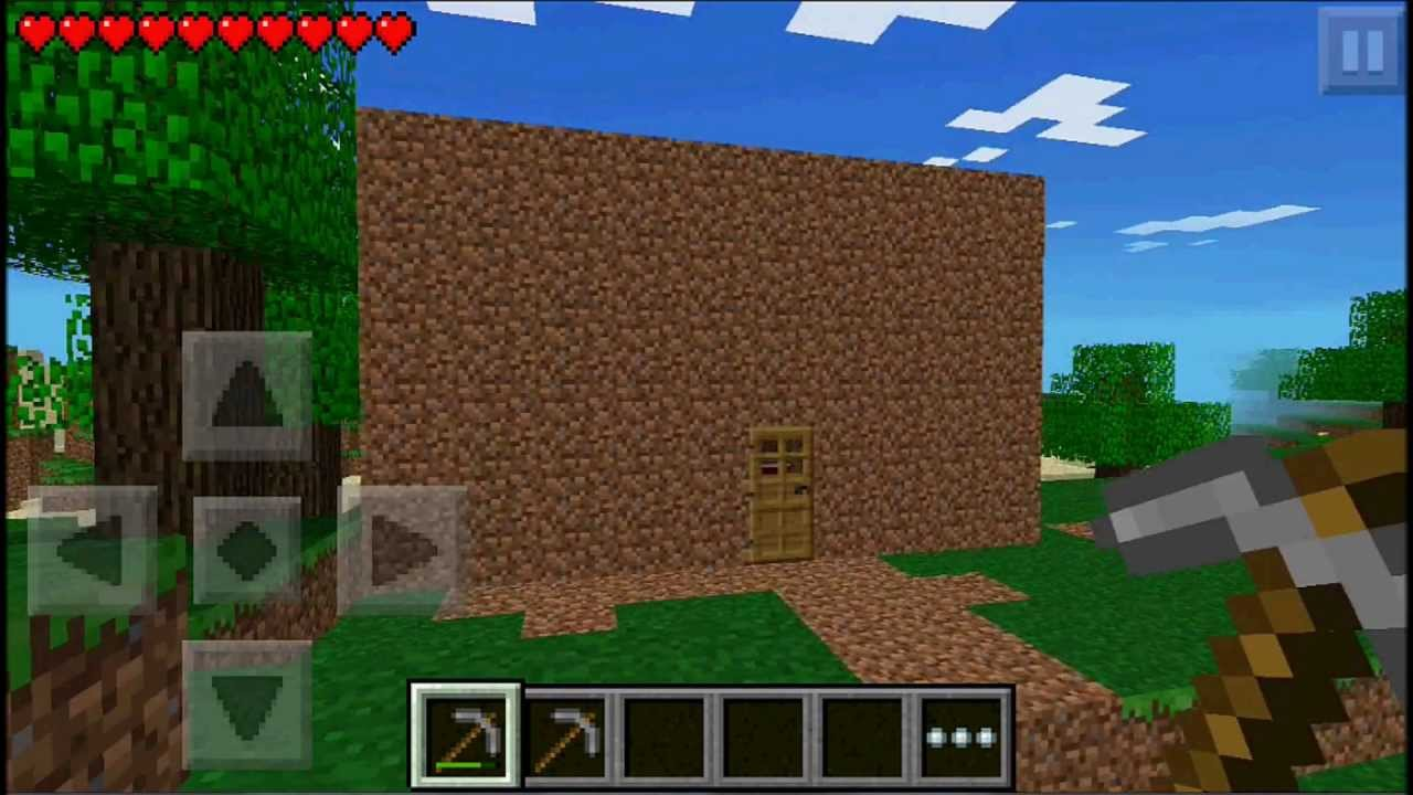 how to build a house in minecraft pe survival