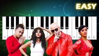 DJ Snake - Taki Taki ft. Selena Gomez, Ozuna, Cardi B - Easy Piano Tutorial - Play Piano Song