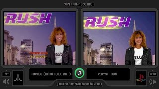 San Francisco Rush (Arcade vs Playstation) Side by Side Comparison