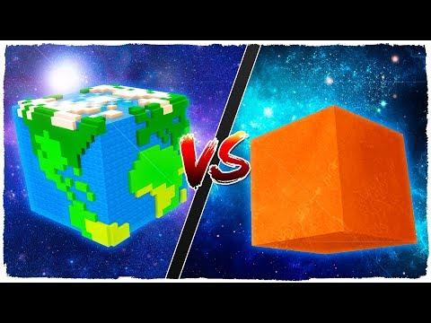🌍 Casa de PLANETA TIERRA vs casa de PLANETA MARTE 🌕 - MINECRAFT