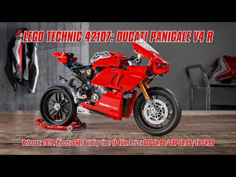 LEGO Technic 42107: Ducati Panigale V4 R: In-depth Review, Speed Build & Parts List [4K]