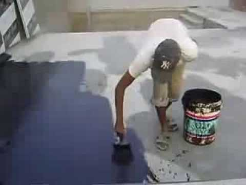 Waterproofing Flat Concrete Roof Using Liquid Lied Waterproof Coating
