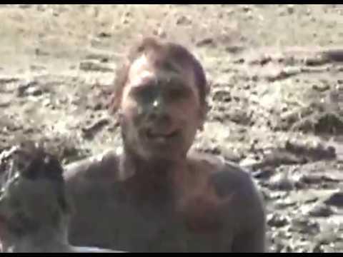 Natural mud bath: best fun time in my life in Transylvania