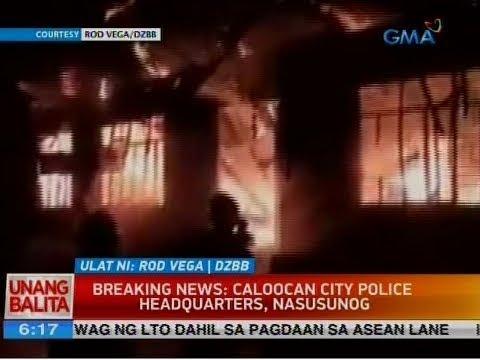 UB: Breaking news: Caloocan City Police headquarters, nasusunog